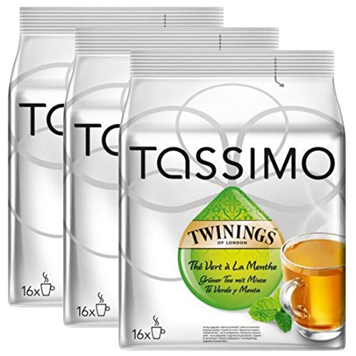Find Bosch Tassimo 'Twinings Mint Green Tea' 16 T Disc Coffee Machine Capsules (Pack of 3) - Bosch