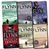 Vince Flynn Mitch Rapp Collection Vince Flynn 6 Books Set (Act of Treason, Protect and Defend, Transfer of Power, American Assassin, Consent to Kill, Memorial Day)