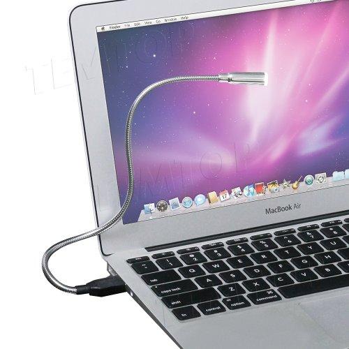 Aursen Superhelle Laptop PC USB LED Licht USB-Lampe Notebook Lampe mit Schwanenhals