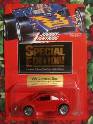 Johnny Lightning 1994 Special Edition VW Concept One (Red) Limited Edition 1 of 5,000