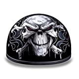 D.O.T. Daytona Skull Cap- W/ Cross Bones Motorcycle Helmet Size 2xLarge