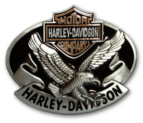 Harley-Davidson Logo with Eagle Die Cast Belt Buckle