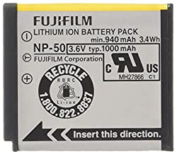 Fujifilm NP-50 Lithium Ion Rechargeable Battery for Fuji F60fd F50fd & F100fd Digital Cameras - Retail Packaging