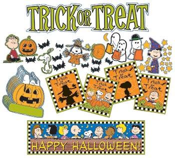 Eureka Peanuts Halloween Mini Bulletin Board Sets - 1
