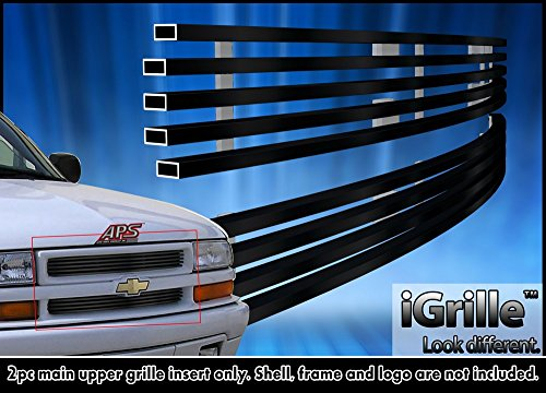 Black Stainless Steel eGrille Billet Grille Grill For 98-04 Chevy S-10 98-05 Blazer (S 10 Grill compare prices)