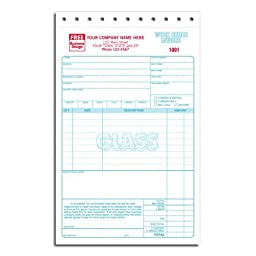 Glass Repair Work Order Invoice
