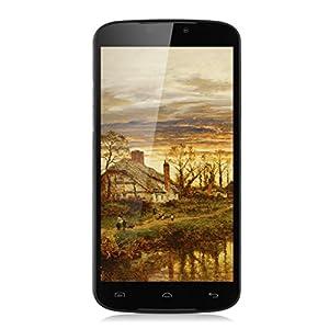 Upgraded Doogee X6 Pro 5.5'' Android 5.1 64Bit Unlocked FDD-LTE 4G Smartphone - MT6735 Quad Core 2GB/16GB Dual SIM Mobile 3G OTG OTA GPRS Wireless Update SIM-Free Phablet (Black)
