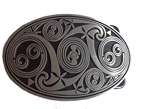 Celtic Anceint Style Men's Belt Buckles Metal Western American Bolo Tie for Leather Belt
