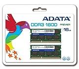 ADATA ノート用増設メモリ PC3-12800 DDR3-1600(512x8) 8GBx2枚組 1.5V 204pin SO-DIMM 無期限保証 AD3S1600W8G11-2
