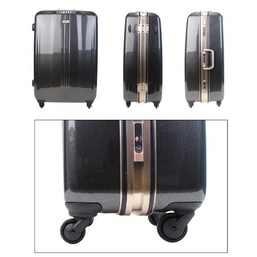 LEGEND WALKER スーツケース キャリーバッグ 4輪 TSAロック PC100% 新型ストッパー機能 軽量 高品質 55L (カーボン)