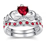 Roop Jewellers Antique Heart Shape Designer Engagement With 92.5 Sterling Silver Ring for Women - 20