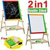 Kids Bedroom Wooden Double Sided Easel Chalk Drawing Board Drawing Children Learning Board