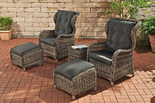 gartenm bel sets g nstig clp luxus sitzgruppe treviso polyrattan gartenm bel gartenm bel. Black Bedroom Furniture Sets. Home Design Ideas