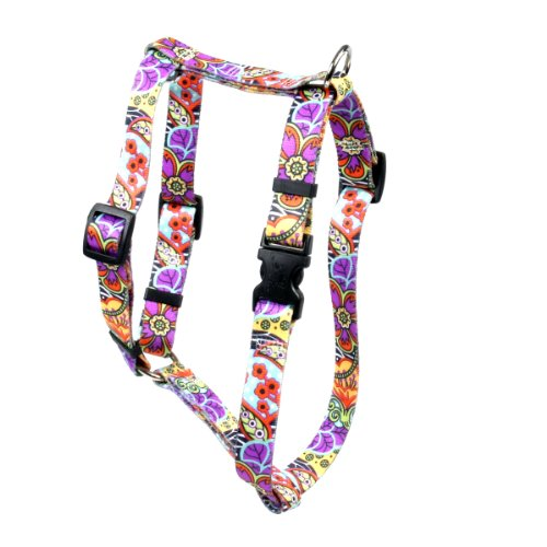 Yellow Dog Design Amazon 15-Inch to 25-Inch Floral Step-In Harness, Medium (Yellow Dog Design Harness Medium compare prices)