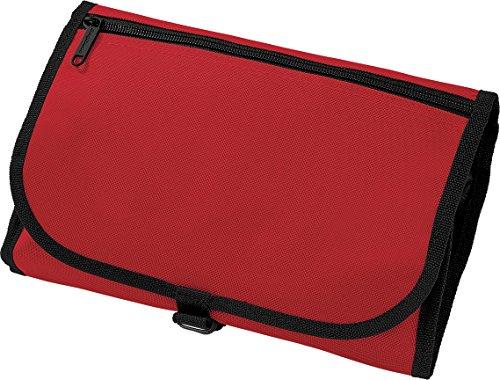 Borsa da uomo accessori da toilette Wash Bag Multi Tasche viaggiatori Kit Pouch Red Taglia unica