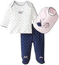Little Me Baby-Girls 3 Piece Gift Set…