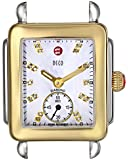 MICHELE Women's MW06V00C9046 Gold-Plated Stainless Steel Watch Head with Diamond Markers