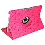 Stuff4 Embossed Doodle Graffiti Style Leather Smart Case with 360 Degree Rotating Swivel Action and Free Screen Protector/Stylus Touch Pen for Apple iPad 2/3/4 - Pink