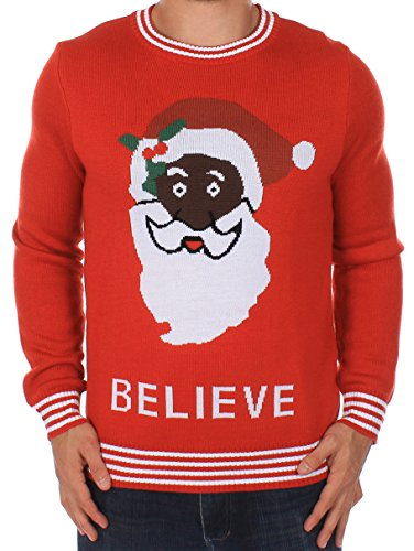 Christmas Sweater - Black Santa Sweater by Tipsy Elves