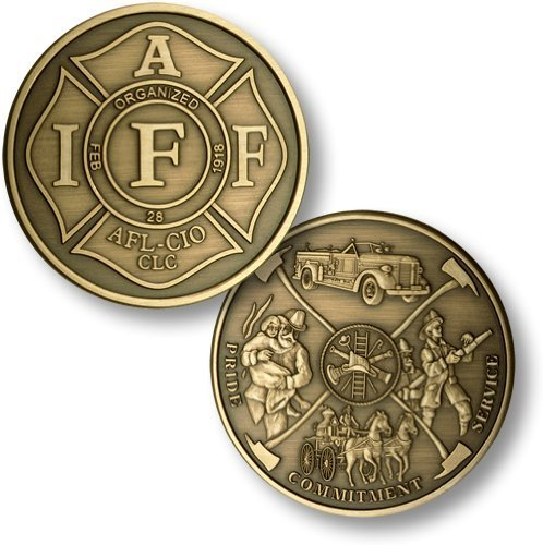 IAFF - Fireman Theme - Bronze Antique