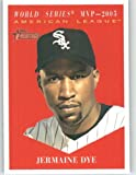 2010 Topps Heritage Baseball Card # 482 Jermaine Dye (MVP Award Winners / Short Print) Chicago White Sox - Mint Condition - MLB Trading Card