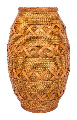 ARTELIER Polyresin Jute Vase (45 Cm X 16 Cm X 45 Cm, ID-3Y-M609)
