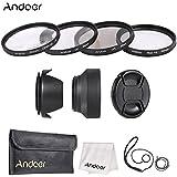 Alcoa Prime Andoer 55mm Camera Lens Filter Kit ( UV + CPL + Star+8 + Close-up+4 ) With Lens Cap Holder Tulip &...