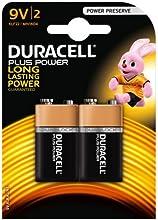 Comprar Duracell Plus DUR9VK2P 9 V celdas de batería unidades 2 mn1604/6lr6