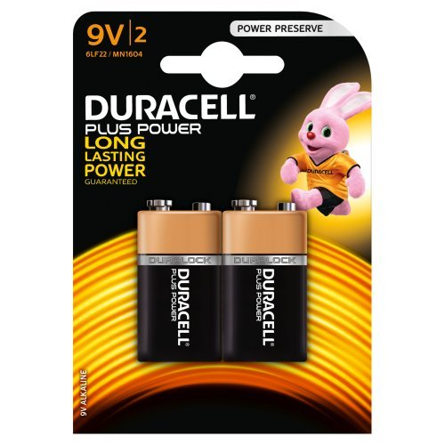 piles Duracell Plus Power alcalines 9V (MN1604) Pack 2