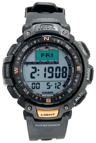 Casio Men's Pathfinder Triple Sensor Altimeter/Barometer/ Digital Compass Green Watch #PAG40-3V