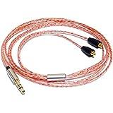 G&V Shure 5N OFC ケーブル クリアな中高域 SE215 SE425 SE535 対応 MMCX 交換イヤホンケーブル 1.2m ワイヤーなし SE-COPPER