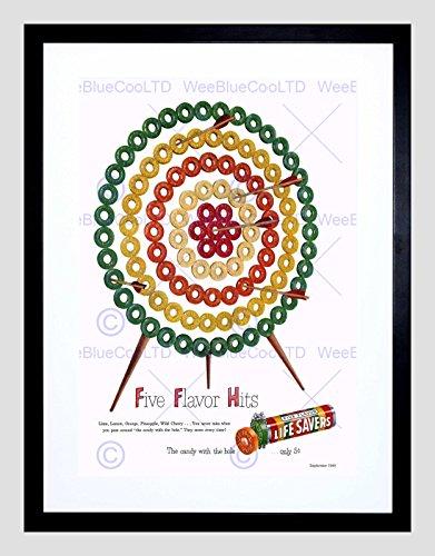 advert-1949-life-savers-sweets-candy-fruit-target-framed-art-print-b12x10489