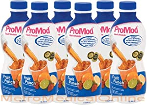 Promod Liquid Protein Supplement Fruit Punch Flavor 1-QT (946-mL/32oz) Bottles - 1/Case of 6