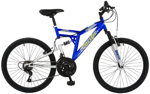 Pacific Chromium Boy's Dual-Suspension Mountain Bike (24-Inch Wheels)