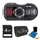 WG-4 GPS 16MP HD 1080p Waterproof Digital Camera Black 4GB Kit Includes camera, 4GB SD Memory Card, Compact Digital Camera Deluxe Carrying Case, 3pc. Lens Cleaning Kit, and Microfiber Cleaning Cloth