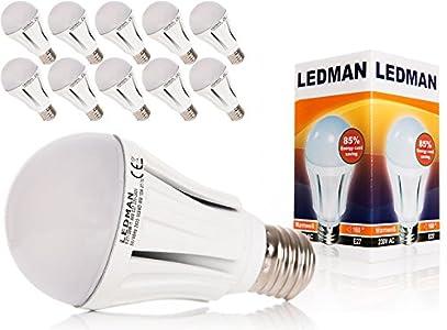 Led Lampen Test: LEDMAN 10x E27 LED Lampe 10 Watt Test - heller ...