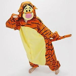 Tigger Pyjamas- Halloween Winter Christmas Kigurumi PJ's (S (4.9 feet ~ 5.22 feet))