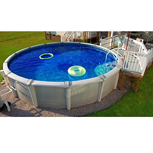 24 hd round overlap above ground pool liner 24 ft for Top of the line above ground pools