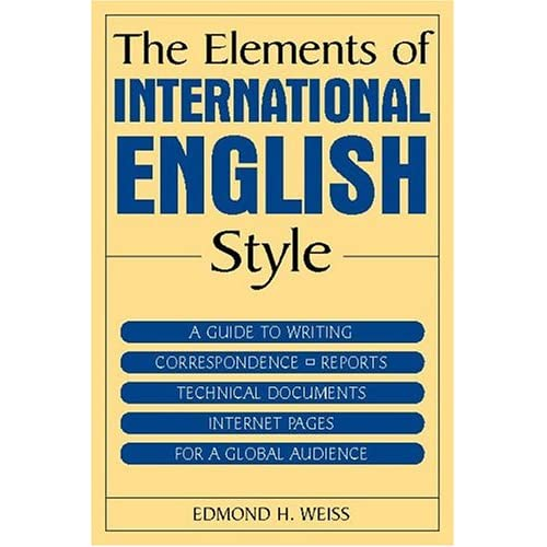 THE ELEMENTS OF INTERNATIONAL ENGLISH STYLE - MANTESHWER