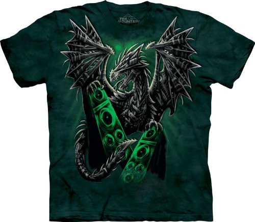 The Mountain Electric Dragon Men Green T-Shirt M front-641611