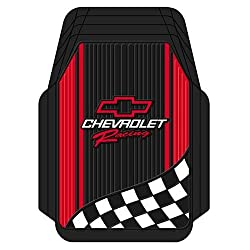 Chevy Racing With Flag Trim-To-Fit Molded Front Floor Mats - Set of 2