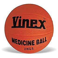 Vinex VMB-002R Medicine Ball Rubber, 2 kg (Color May Vary)