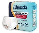 Attends Super Plus Absorbency Protective Underwear size X-Large
