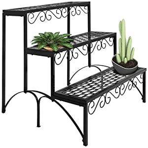 etagere jardin metal pot porte fleurs plantes 60x70x60cm jardiniere fer forge jardin. Black Bedroom Furniture Sets. Home Design Ideas