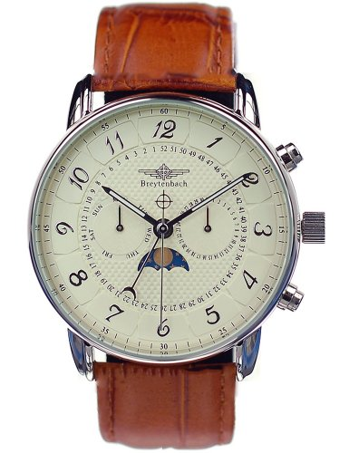 Breytenbach Men's Moonphase Watch Bb7710Be with Swiss-Ronda Movement