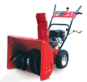 Powerland PDST24 24-Inch 196cc 6.5 HP OHV Gas Powered Two Stage Self Propelled Snow Thrower With Electric Start (CARB Compliant)