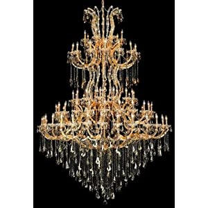 Crystal Lighting Gold chandelier