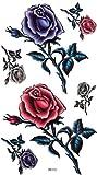 King Horse Männer und Frauen sexy Tattoo-Aufkleber wasserfester Farbe Rosen