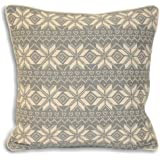 Riva Home Snowflake Nordic Scandinavian Christmas Cushion Cover, Grey, 45 x 45 Cm