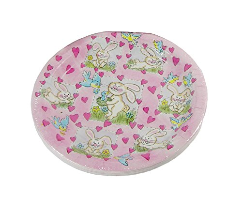 Party House Hippity Hoppity Dessert Plates - 12 Pieces